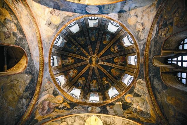 Роспись купола церкви Хора