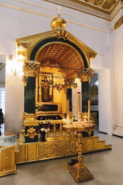 Мощи преподобного Нила почивают ныне в Богоявленском соборе обители
