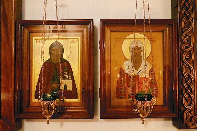 Иконы преподобного Варлаама и святителя Алексия