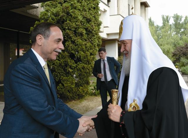 Встреча Патриарха Кирилла в Болгарском посольстве
