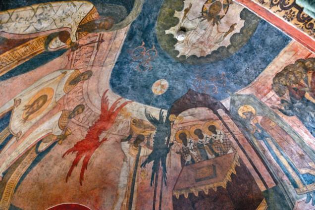 Алтарные росписи придела святого Никиты мученика. Таинство причастия