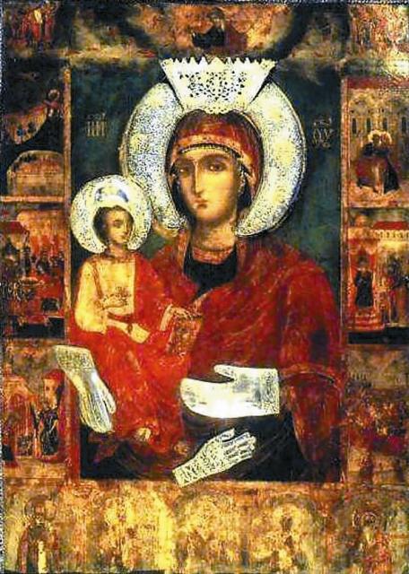 Особо чтимая в Болгарии чудотворная икона  «Троеручица»