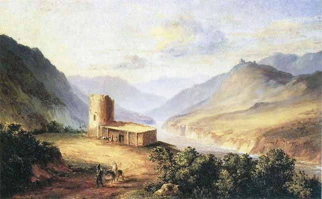 Военно-грузинская дорога близ Мцхеты. М.Ю. Лермонтов