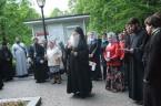 Молебен перед часовней Ксении Петербургской