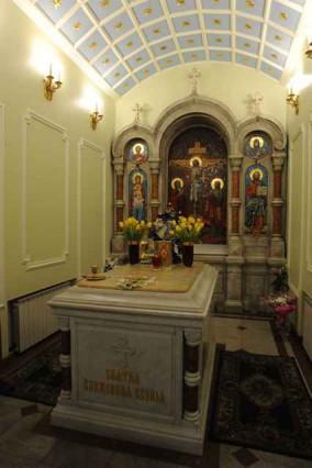 Рака с мощами святой Ксении Петербургской