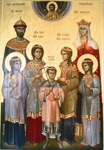 Икона царских страстотерпцев афонского письма
