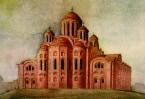 Предположительно так выглядела первая Десятинная церквоь