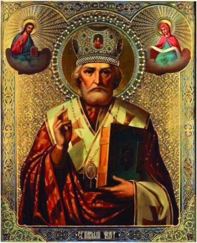 Икона святителя Николая с частицей мощей