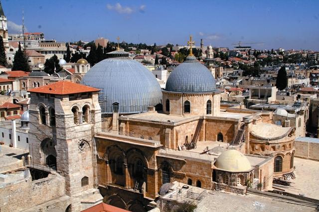 Монастырь святых Константина и Елены примыкает к храму Гроба Господня