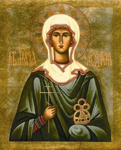 Икона Марии Магдалины с частицей мощей