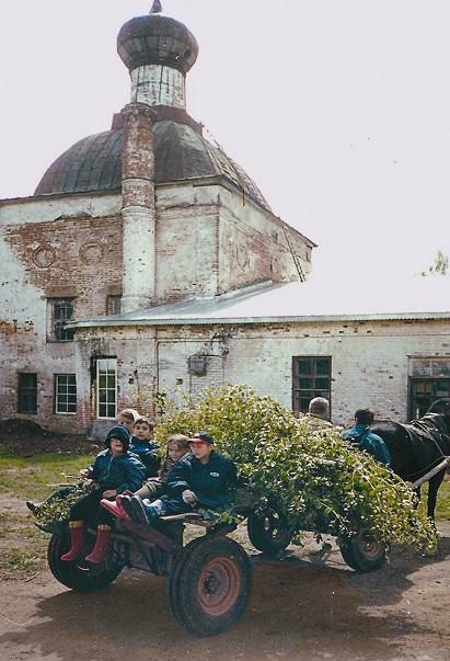 Так выглядел монастырь в 90-е годы прошлого века
