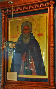 Мироточивая икона преподобного Сергия Радонежского