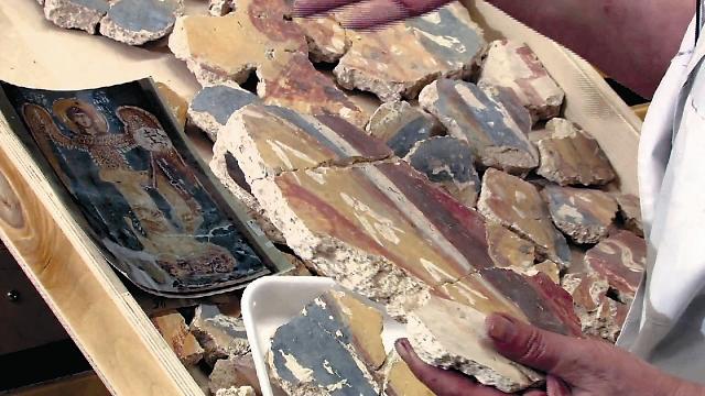 Восстановление фресок в храме Спаса-на-Нередице