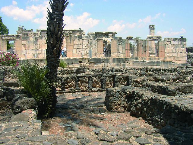 На заднем плане развалины синагоги