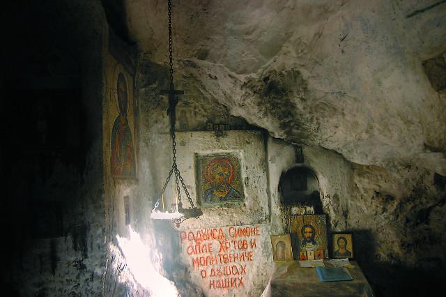 Пещера, где жил апостол Симон Кананит