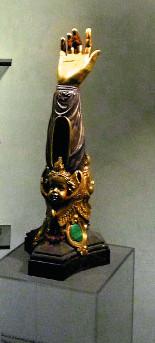 Мощевик с рукой святой праведной Анны, матери пресвятой Богородицы