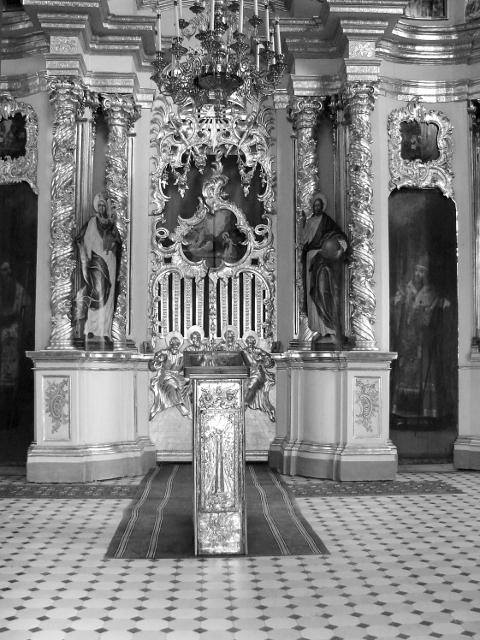Иконостас с Царскими вратами из Ильинской (надвратной) церкви