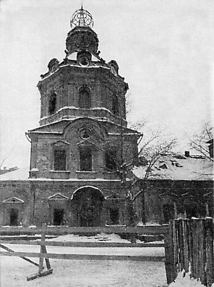 Так выглядел храм незадолго до разрушения