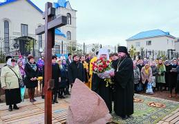 Крест и камень в основание музея освятил митрополит Астанайский и Казахстанский Александр