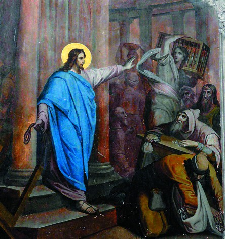Введенский храм украшен стенной живописью на библейские сюжеты