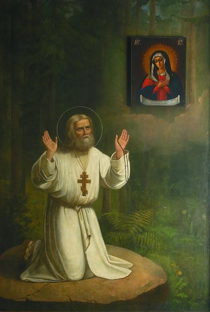 """""""Моление Серафима на камне"""" - самая известная икона митрополита Серафима"""