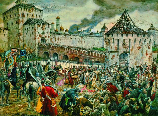 Изгнание польских интервентов из Московского Кремля в 1612 году. Э. Лисснер