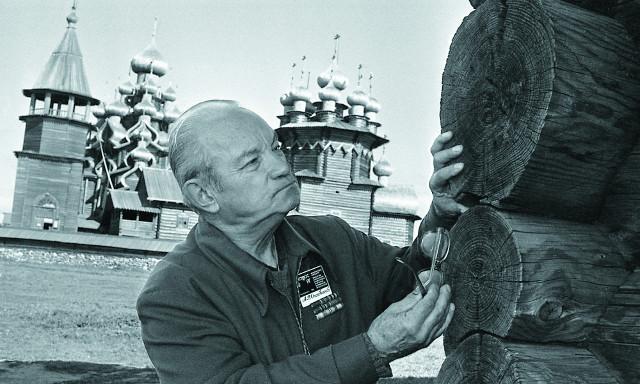 А. В. Ополовников в Кижах. 1970-е годы