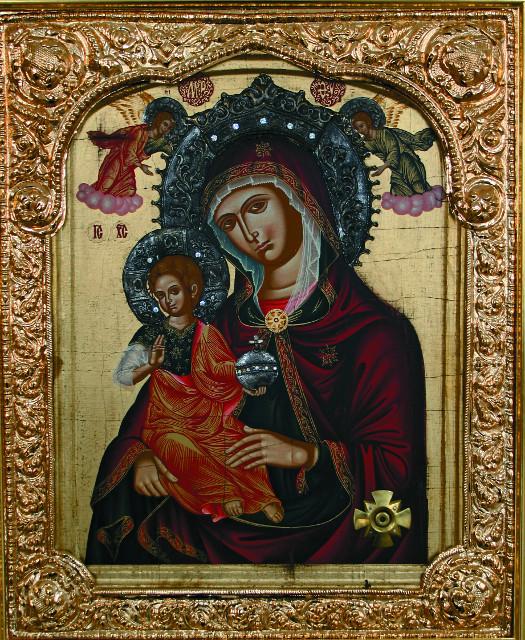 Керкирская икона  Божией Матери с частицей ризы Пресвятой Богородицы