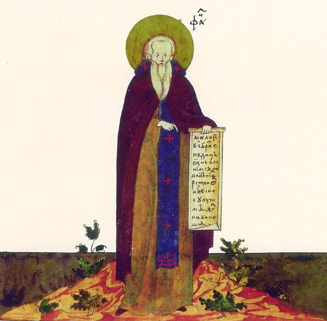 Будущий святой родился около 1340 го- да в семье устюжского причетника Си- меона. Воспитанный благочестивой матерью, он с юных лет проявлял необыкно- венное усердие к служению Церкви. За один год Стефан (имя святого в миру неизвестно) выучился читать Священные книги и стал помогать отцу на богослужениях. Еще в мо- лодости он принял иночество в монастыре Григория Богослова в Ростове, который сла- вился своей богатой библиотекой. Проявляя большие способности к учению, Стефан вы- учил греческий язык, чтобы читать святых отцов в оригинале. Но самое большое его желание было просвещать язычников. Взяв благослове- ние у Коломенского епископа Германа, Стефан направился «в страну языческую – Пермь». Святитель говорил: «Я ре- шился или привести их ко Христу, или сложить у них за Христа голову». Для просвещения зырян он составил азбу- ку их языка и перевел для них Часослов, Псалтирь, избран- ные места из Евангелия и праздничные службы. Крестив- шиеся зыряне сами стали истреблять то, чему поклонялись, и строить святые храмы. Богослужения велись в них на зы- рянском языке. Святитель ходатайствовал за зырян в Мо- скве, во время неурожая снабжал их хлебом. Плодом его трудов стало обращение всей обширной Пермской земли к христианству.