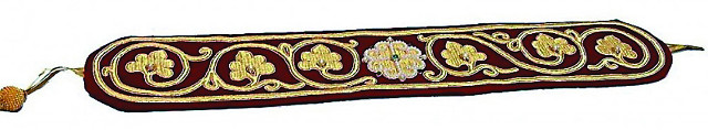 Пояс, вышитый монахинями Зачатьевского монастыря и освященный у пояса Богородицы в Ватопедском монастыре на Афоне