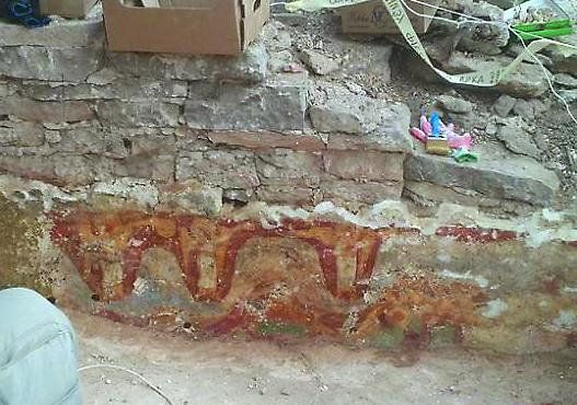 Фреска чудом сохранилась от разрушения