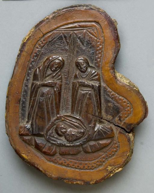 Икона «Рождество Христово». Вифлеем. XIX век. Спил оливы, резьба