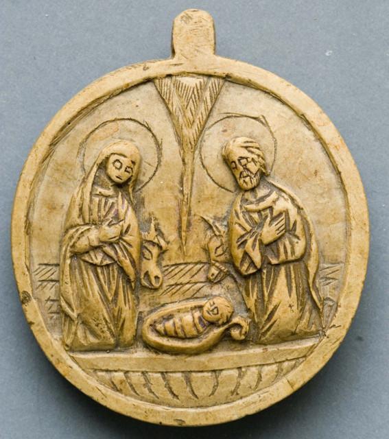 Икона «Рождество Христово». Палестина. XIX век. Камень, резьба