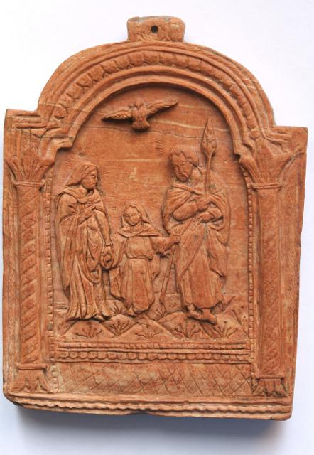 Икона «Святое Семейство». Вифлеем. XIX век. Камень, резьба