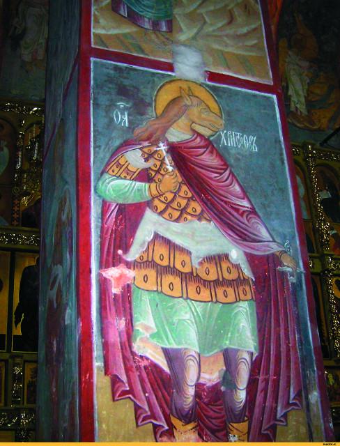 Святой Христофор. Фреска.