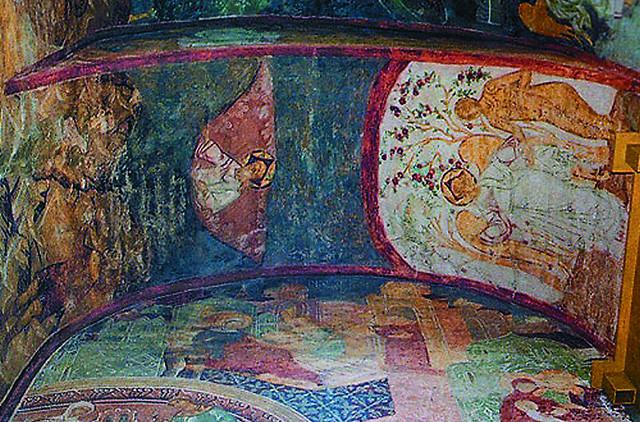 Фрески Успенского собора. Общая площадь этих уникальных росписей составляет более тысячи квадратных метров