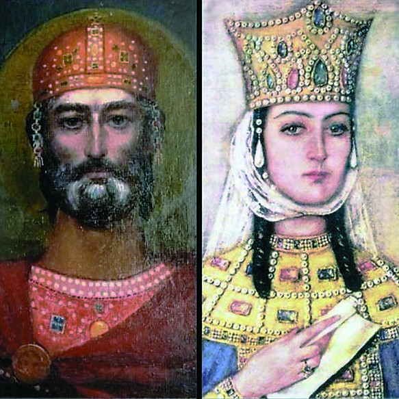 Давид Строитель и царица Тамара