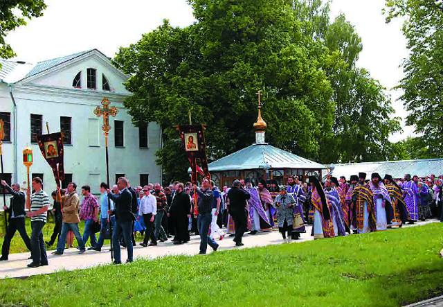 Крестный ход в селе Погост Крест