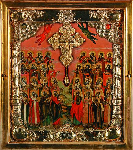 Образ 32 святых угодников Божиих
