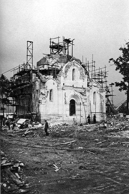 Спасский собор в процессе реставрации. 1959 г.