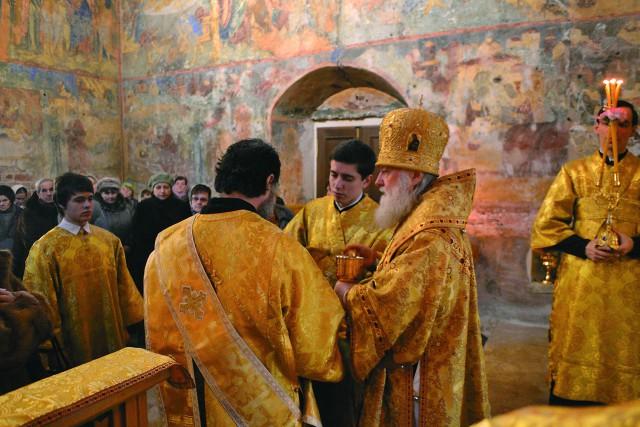 Архиерейскрое богослужение  в Вознесенском храме