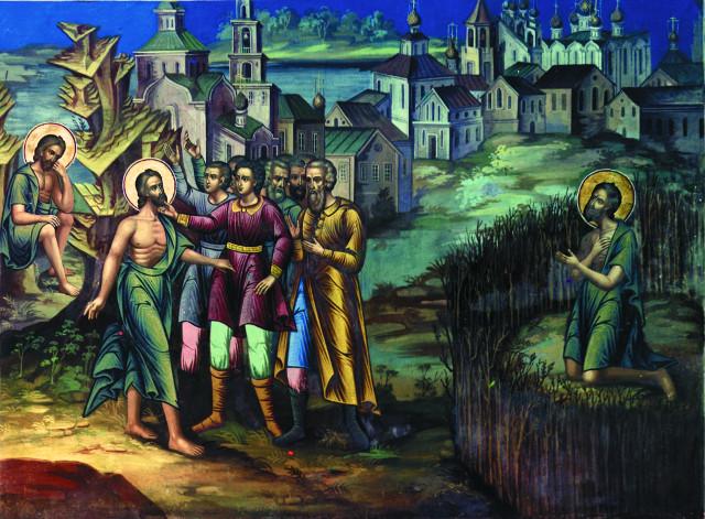Так выглядит настенная роспись Вознесенской  церкви в 1910 году