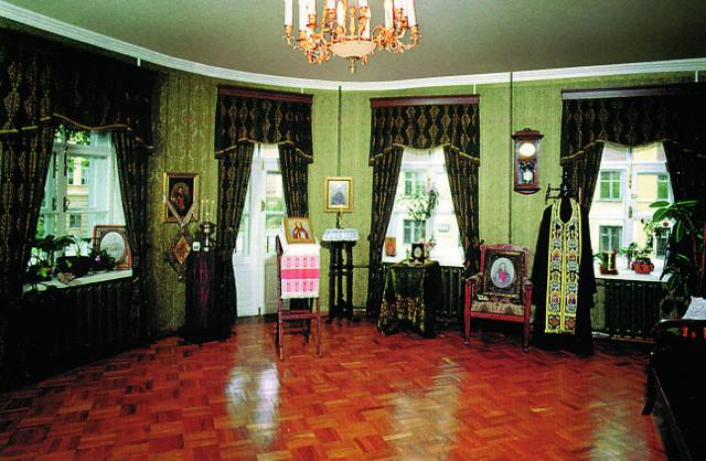 Одна из комнат квартиры, где жил святой  Иоанн Кронштадтский