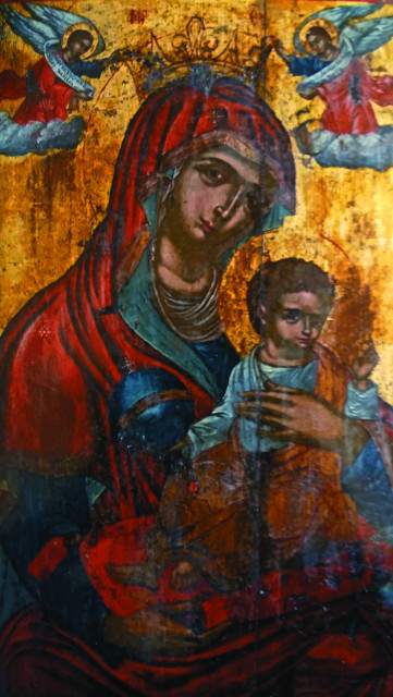 """Икона """"Царица Ангелов"""" - главная святыня монастыря Камарела"""
