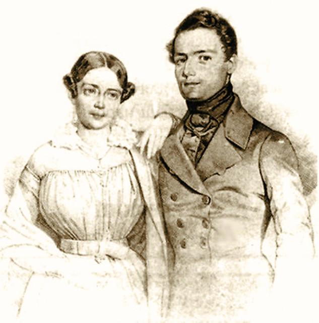 Иван Васильевич Кириевский с женой Наталией Петровной Арбеневой