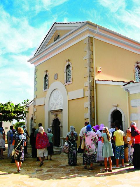 Преображенский храм монастыря Пантократор  Агиос Афанасиос