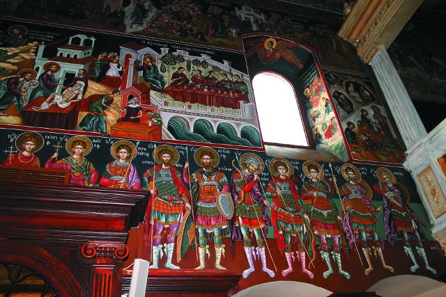 Росписи храма в монастыре Пантократор Агиос Афанасиос