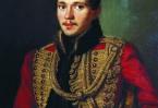 М.Ю. Лермонтов.  Портрет художника П.Е. Заболотского, 1837 г.