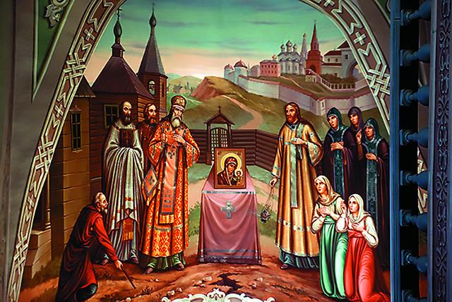 Патриарх Ермоген  был первым, кто взял в руки чудотворный образ