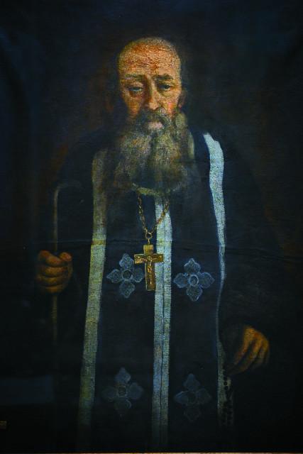 Портрет старца Аристоклия, принесенный на Афонское подворье в год его прославления